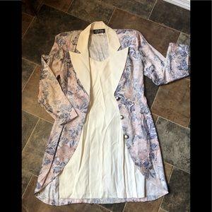 Vintage 80s/90s Floral Dress Blazer Set